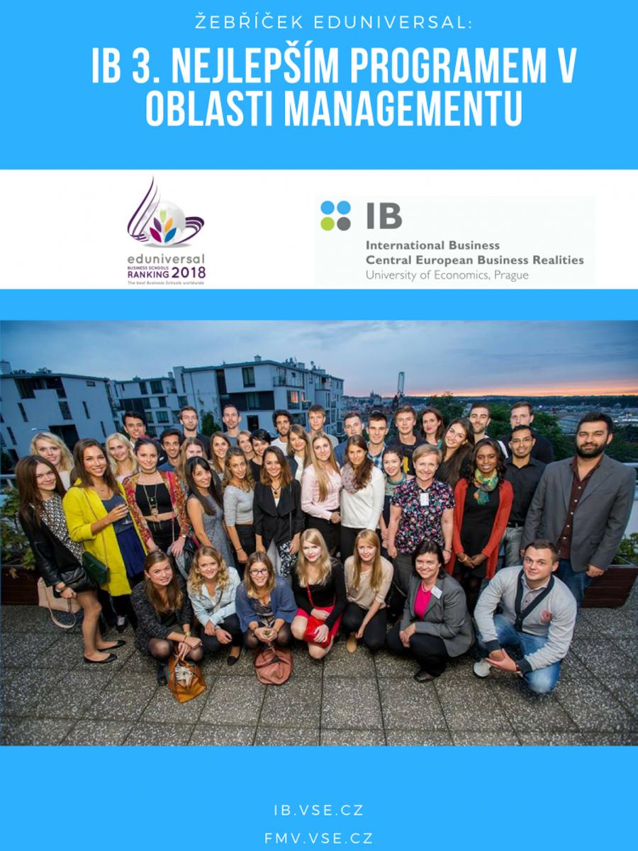 IB je 3. nejlepším management programem v regionu CEE!