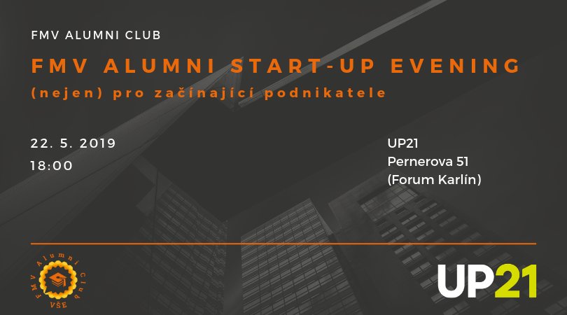 Exkluzivní Alumni start-up evening v inkubátoru UP21