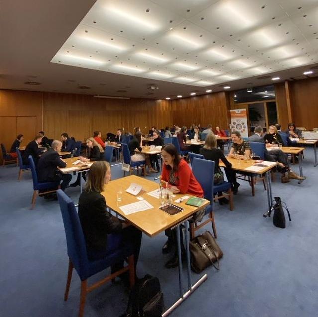 4 minuty, 15 business setkání a 30 absolventů. FMV Alumni Club pořádal svůj druhý Alumni Business Speed Networking.