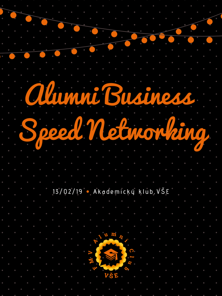 "Přijďte si ""zanetworkovat""! Alumni Business Speed Networking pro absolventy FMV."