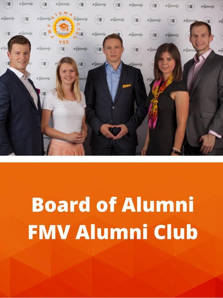 Jste absolventem FMV? Staňte se členem Board of Alumni! Blíží se druhé volby do předsednictva FMV Alumni Clubu.