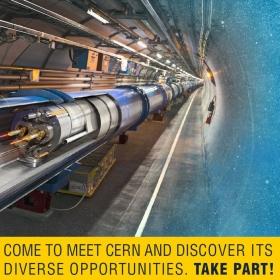 """Kariéra v CERNu? Roadshow """"CERN. TAKE PART!"""" představí možnosti uplatnění."""