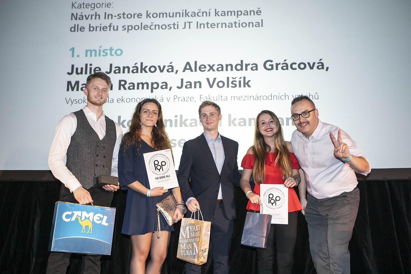 Studenti předmětu Retail Marketing opět zvítězili vsoutěži POPAI STUDENT AWARDS 2019
