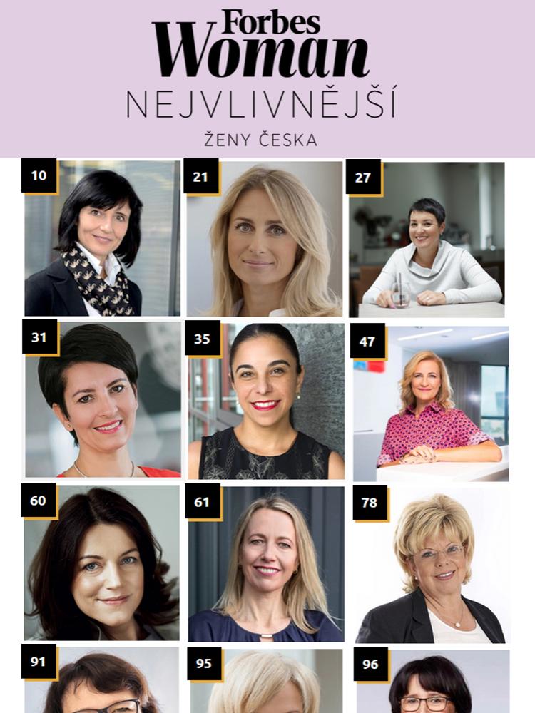 Absolventky FMV v žebříčku Forbes Nejvlivnější ženy Česka