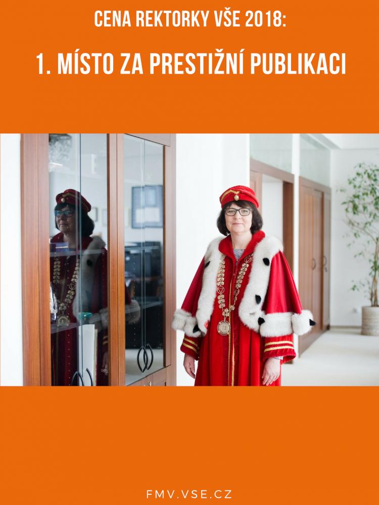 Cena rektorky za prestižní publikaci putuje na FMV