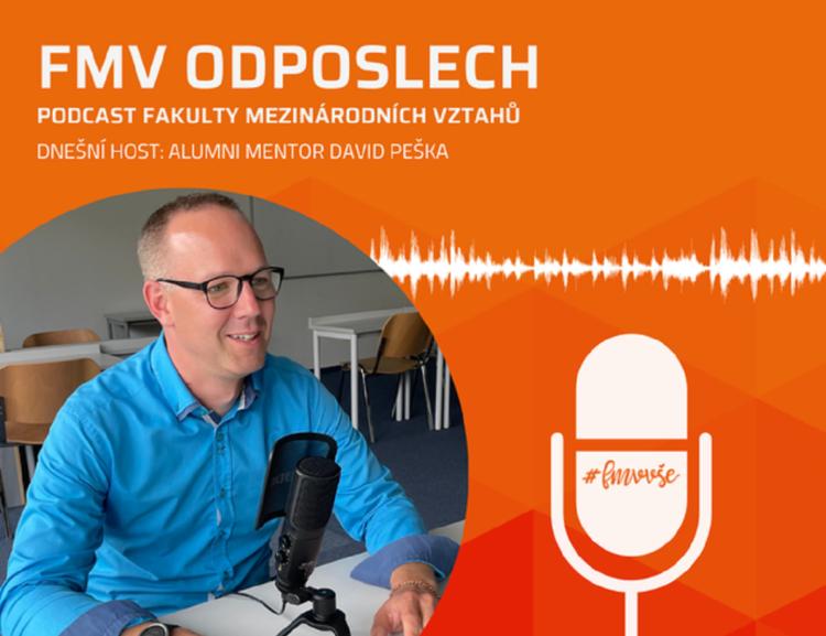 První podcast zimního semestru je tady! Nalaďte si FMV odposlech s absolventem Davidem Peškou.